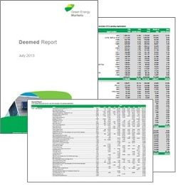 Monthly Deemed Report